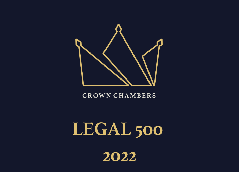 Crown Chambers Recognised in the Legal 500 2022